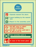 JALITE AAA General fire action notice including assembly point. (200 x 150)