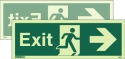 JALITE AAA Double-sided Exit sign right or left. (120 x 340)